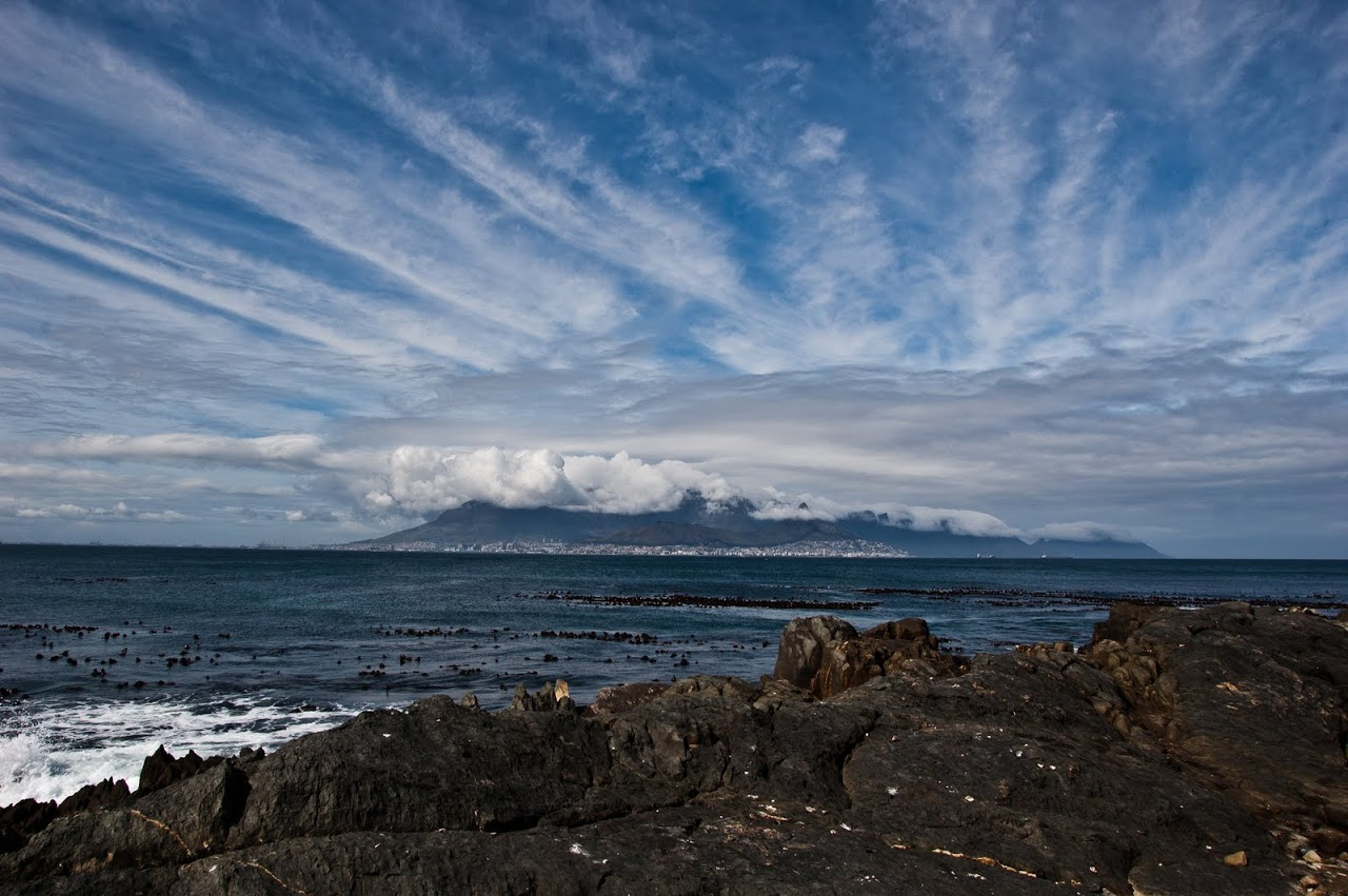 View of Cape Town from Robbens Island