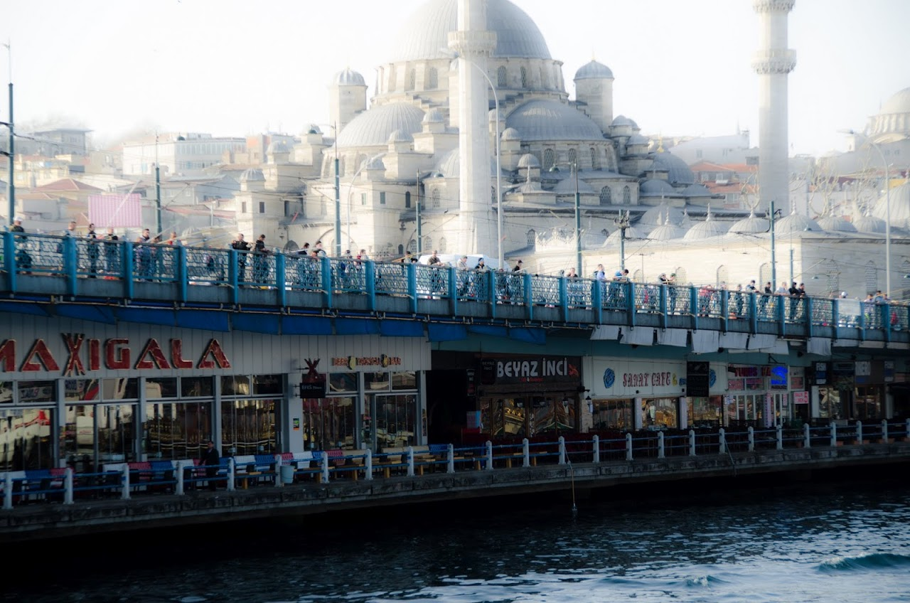 Sulemaniye Mosque over ferryboat