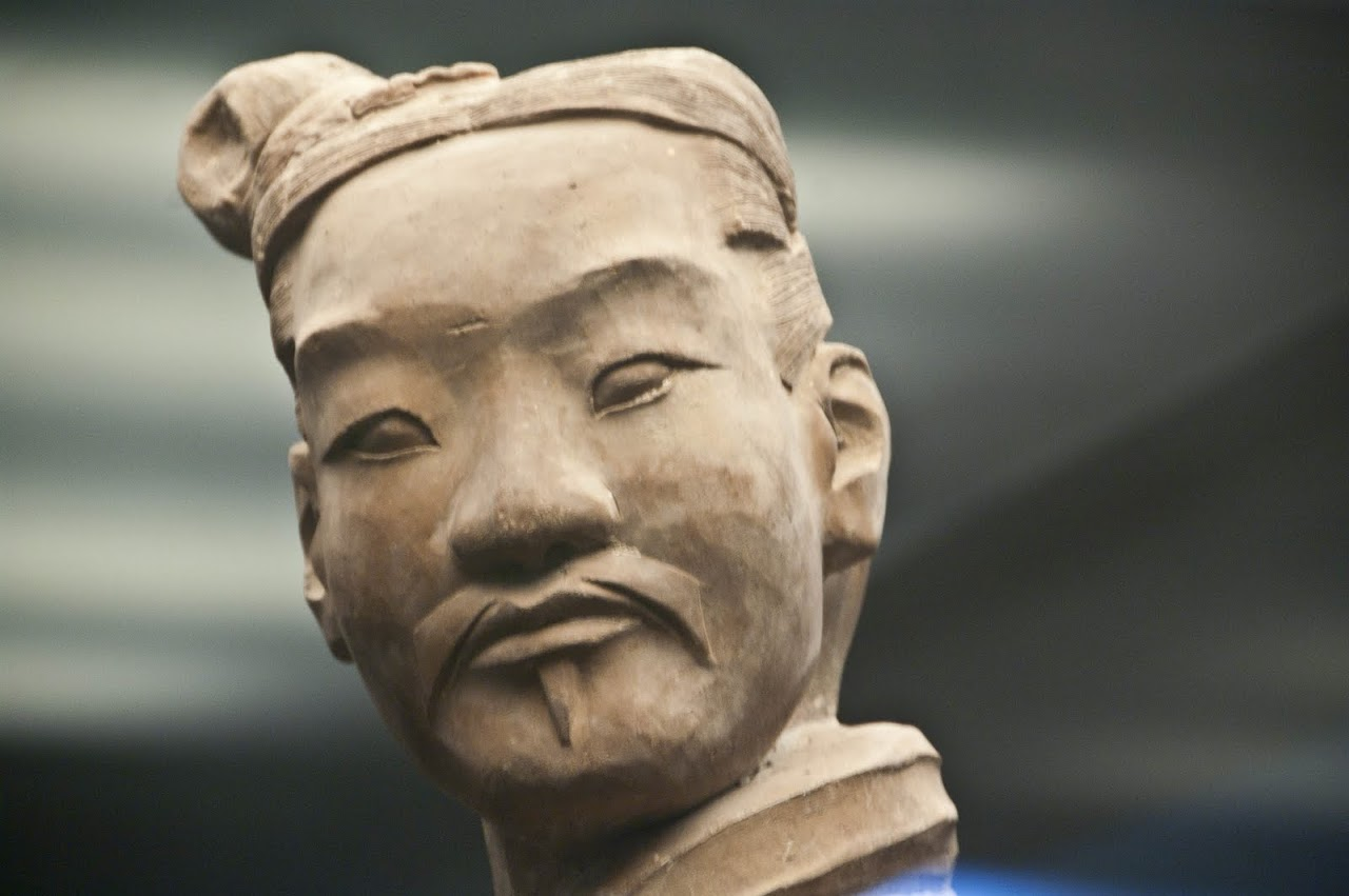 Terracotta soldier face