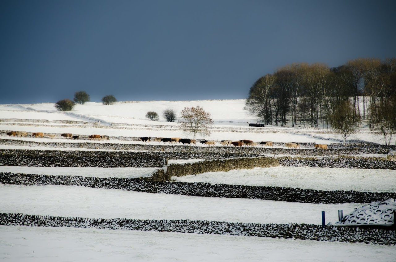 Peak District with snow