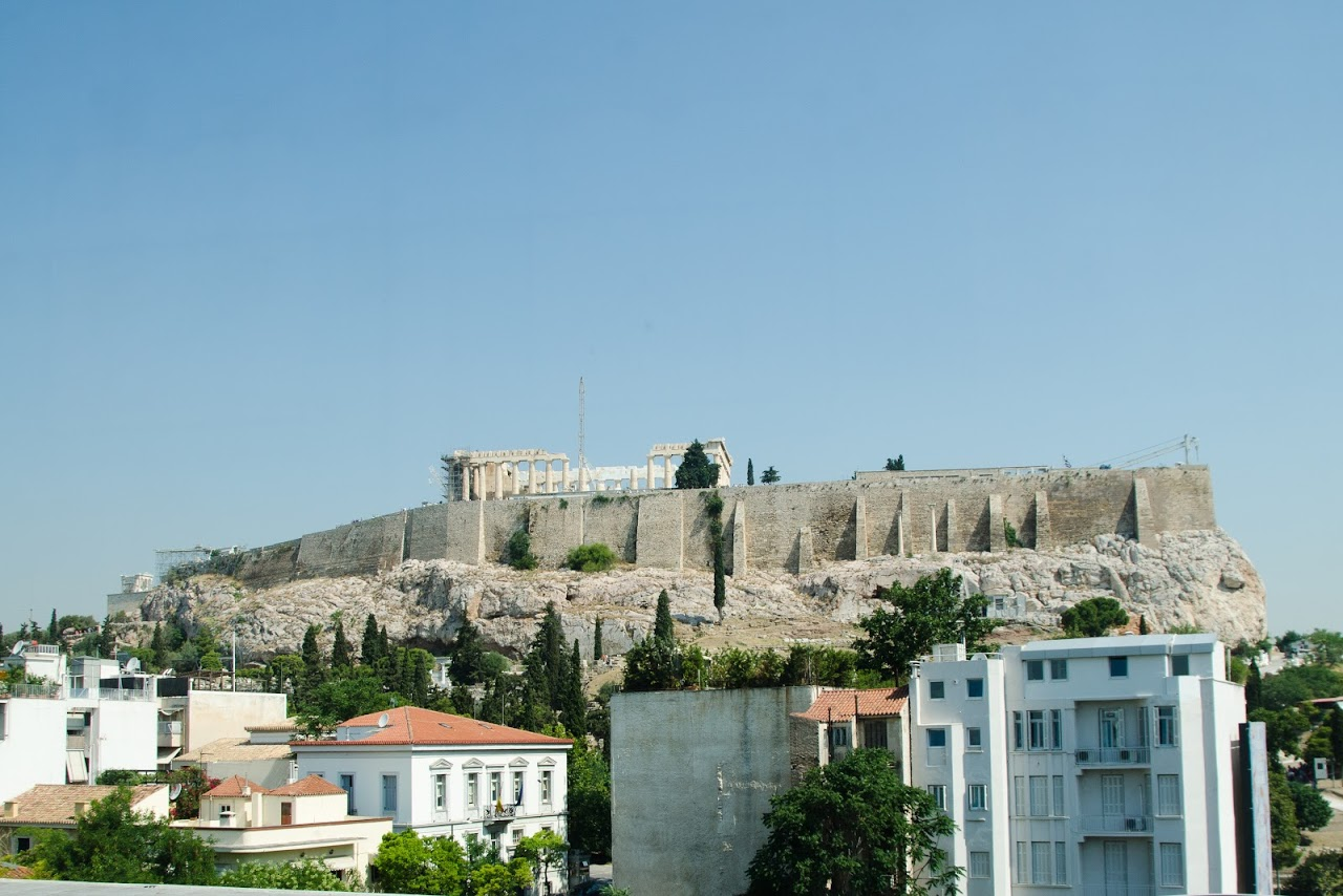 View of the Acropolis from the Acropolis museum